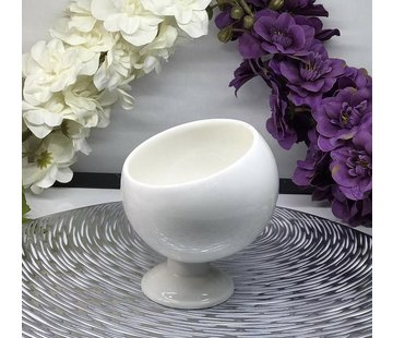 ACR ACR Bianco Perla Schuine schaal met Voet 11 Cm