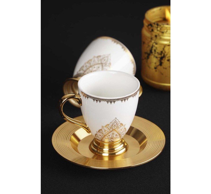 ACR Violet Espresso set 12-Delig   6-Persoons Gold