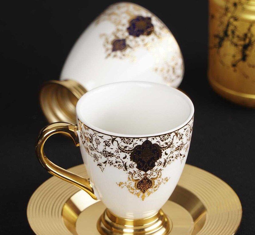 ACR Violet Espresso set 12-Delig | 6-Persoons Damask