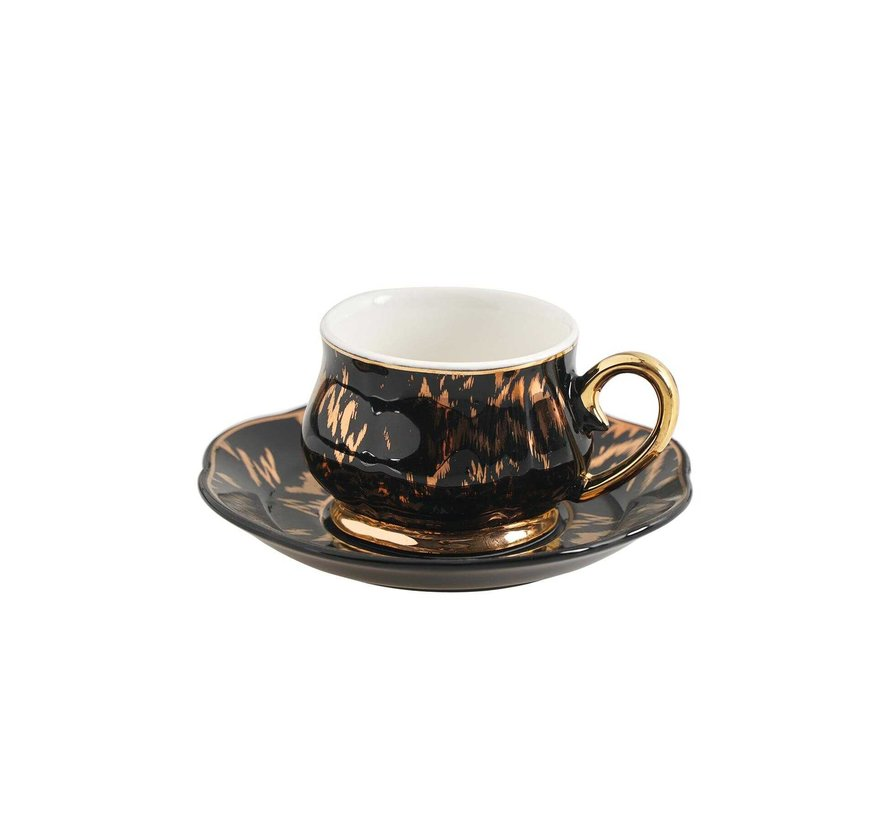 ACR Angle Espressoset 12-Delig | 6-Persoons Zwart