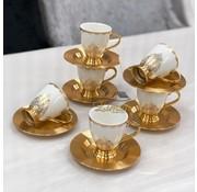 ACR ACR Violet Espresso set 12-Delig | 6-Persoons Gold