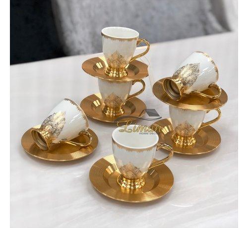 ACR ACR Violet Espresso set 12-Delig   6-Persoons Gold