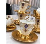 ACR ACR Violet Espresso set 12-Delig | 6-Persoons Damask