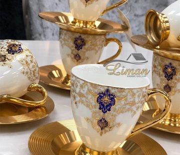 ACR ACR Violet Espresso set 12-Delig   6-Persoons Damask