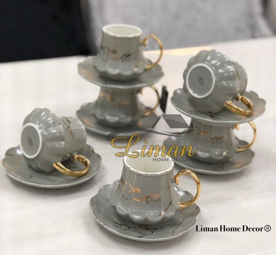 ACR Selina Nescafe Set 12-Delig | 6-Persoons Grijs