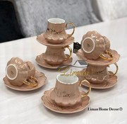 ACR ACR Selina Nescafe Set 12-Delig | 6-Persoons Oud Roze