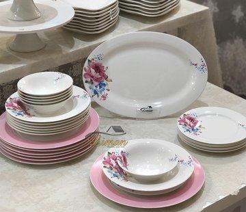 BRICARD PORCELAIN Bricard Porcelain Laval 6-Persoons   25-Delig Serviesset