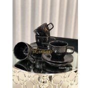 S P Collection Mielo Espresso set 8-Delig   4-Persoons Zwart