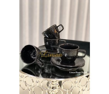 S|P Collection Mielo Espresso set 8-Delig | 4-Persoons Zwart