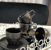 S & P Mielo Zwart 8 Delig Nescafeset