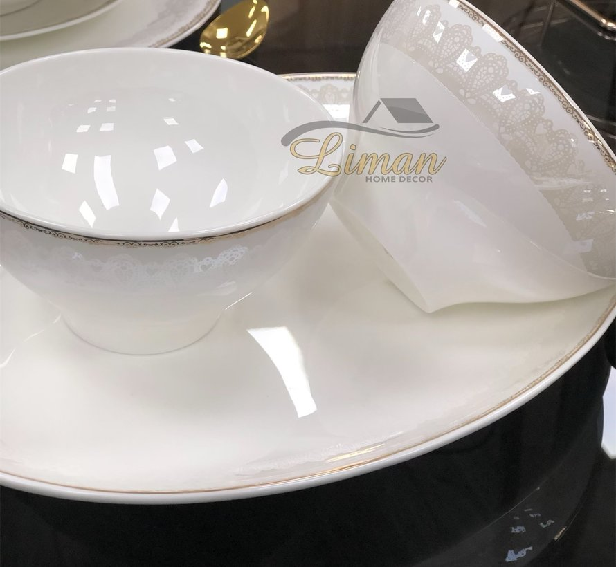 Bricard Porcelain Pessac 6-Persoons | 25-Delig Serviesset
