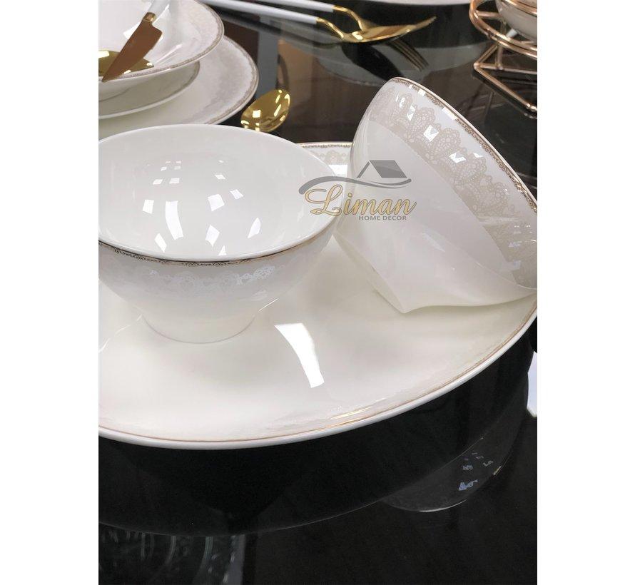 Bricard Porcelain Pessac 6-Persoons   25-Delig Serviesset