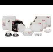 KARACA Karaca Fine Pearl Black Unique 12-Persoons | 86-Delig Serviesset