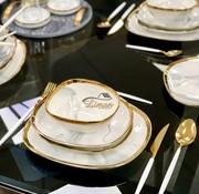 BRICARD PORCELAIN Bricard Porcelain Sens 6-Persoons | 25-Delig Serviesset Marbel Grijs