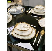 BRICARD PORCELAIN Bricard Porcelain Sens 6-Person | 25-Piece Dinner sets Marble-Grey