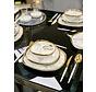 Bricard Porcelain Sens 6-Persoons | 25-Delig Serviesset Marbel Grijs