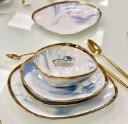 BRICARD PORCELAIN Bricard Porcelain Sens 6-Person | 25-Piece Dinner sets Marble-Blue