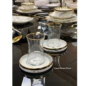 BRICARD PORCELAIN Bricard Sens teaset Marbel Grey 12 Pieces