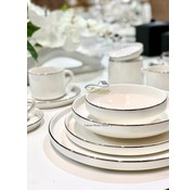 BRICARD PORCELAIN Bricard Porcelain Lunel 6-Persoons | 27-Delig Serviesset Zilver
