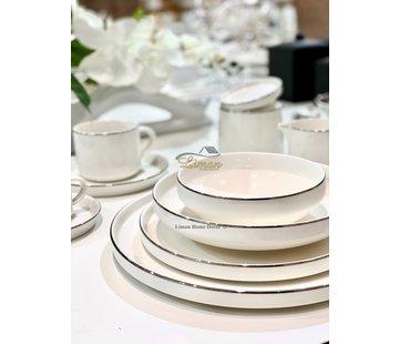 BRICARD PORCELAIN Bricard Porcelain Lunel 6-Persoons   27-Delig Serviesset Zilver