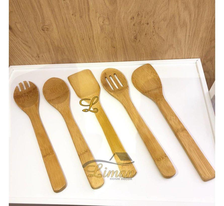 Bamboe 6-delige keukengereiset