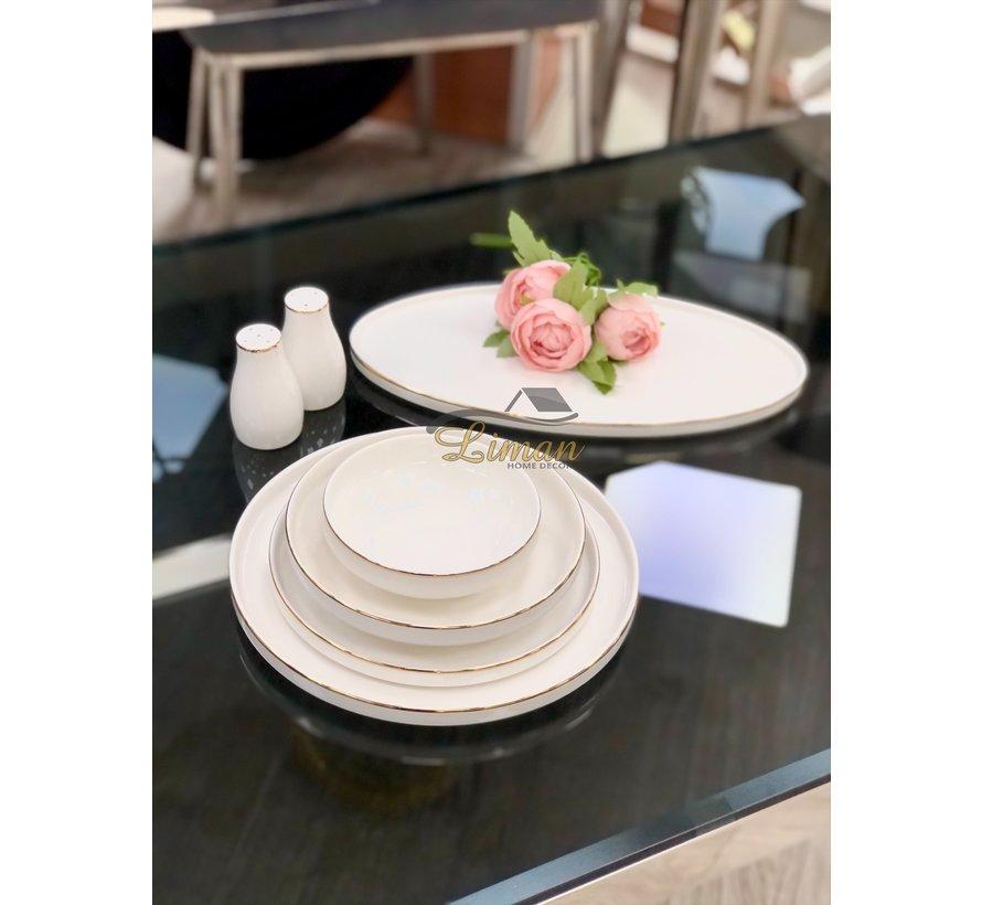 Bricard Porcelain Lunel 6-Persoons | 27-Delig Serviesset Goud