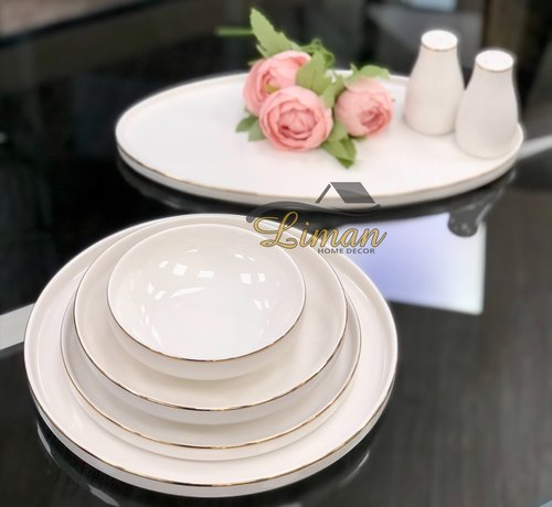 BRICARD PORCELAIN Bricard Porcelain Lunel 6-Persoons | 27-Delig Serviesset Goud