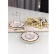 BRICARD PORCELAIN Bricard Sense teaset White / Gold 12 Pieces