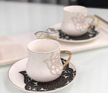 La Otantik La Otantik Oriental Cappuccino/Nescafeset Zwart 12-Delig | 6-Persoons