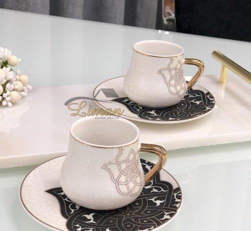 La Otantik La Otantik Oriental Espresso/Mokkaset Zwart 12-Delig | 6-Persoons