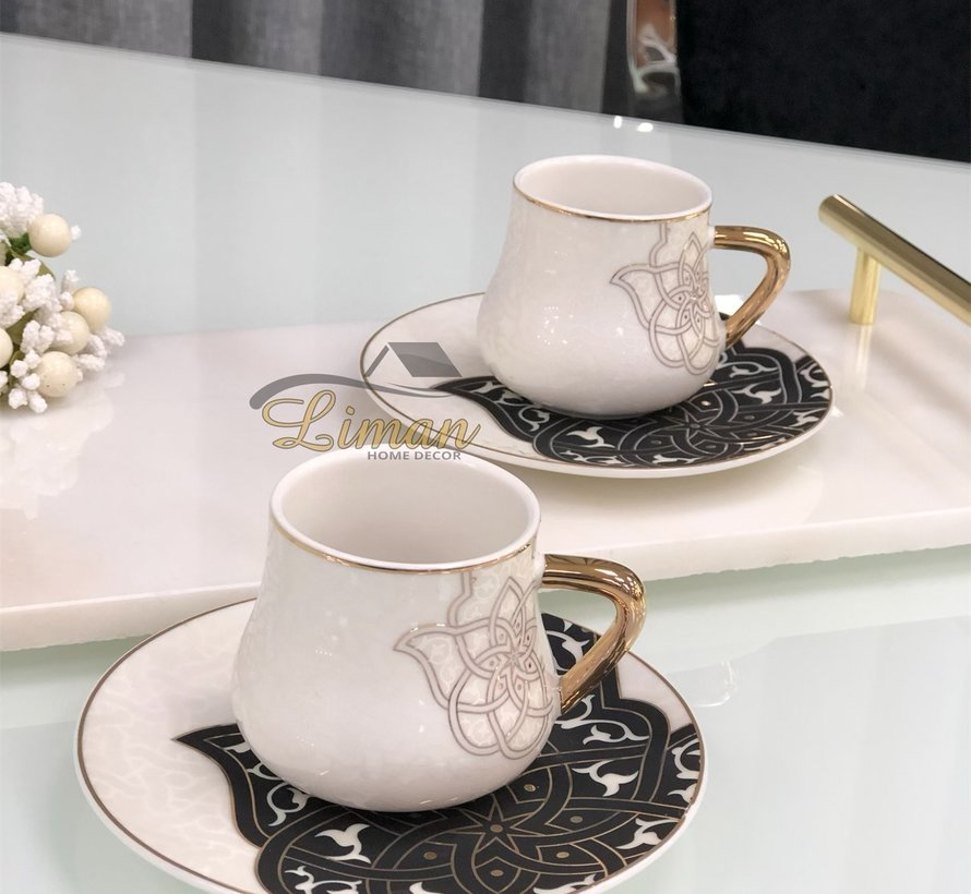 La Otantik Oriental Espresso/Mokkaset Zwart 12-Delig | 6-Persoons