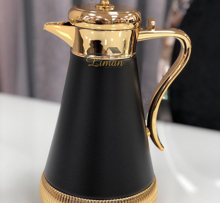 Termoskan Goud - Zwart 1 Liter