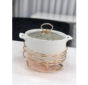 ACR ACR Stoneware Rozelly Rond Ovenschaal Met stand  23.5 Cm