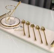 6 Stück Diamond Teelöffel Gold