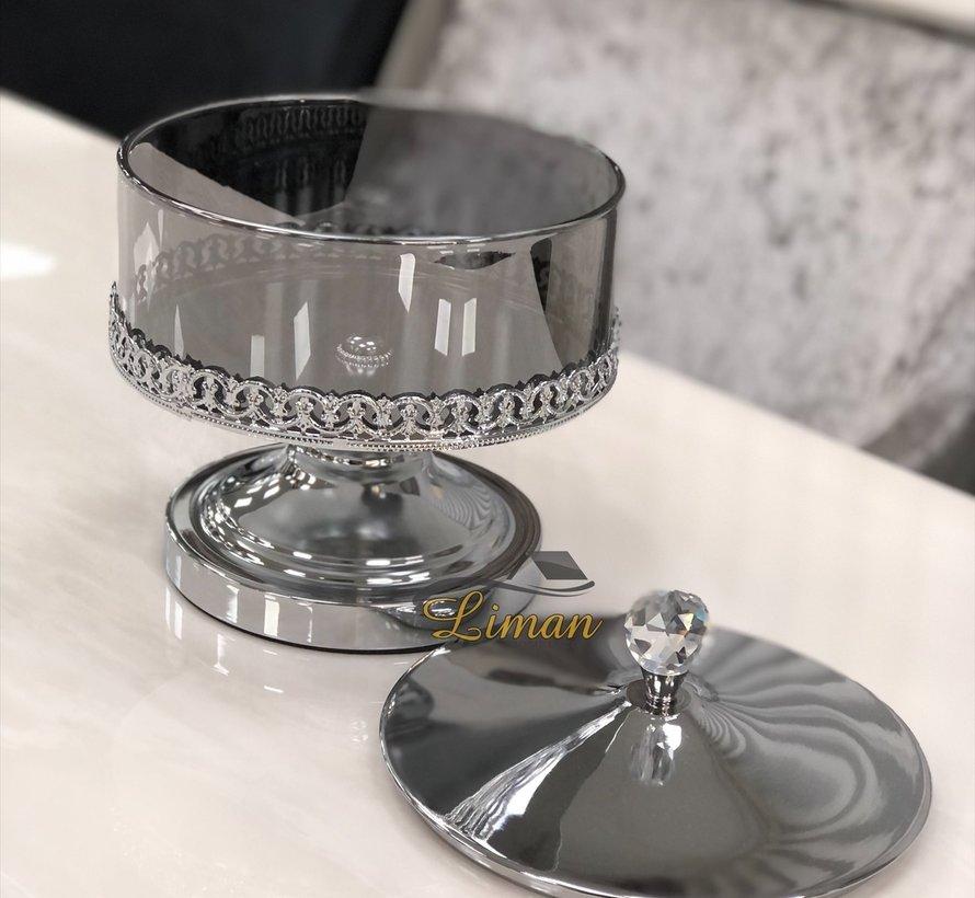 Kronos Bonbonniere Met Voet Zilver