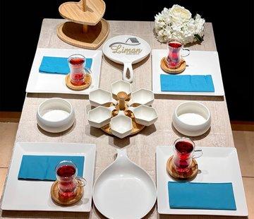 Orient Ontbijtset 4-Persoons | 18 Delig