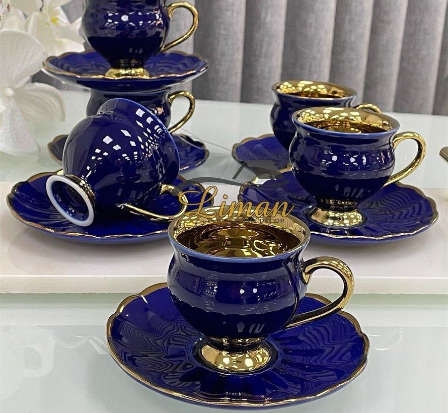 Acr Morpheus Espresso set 12-Delig | 6-Persoons Blauw