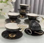 ACR ACR Cevher 12 Delig Espressoset Zwart-Gold