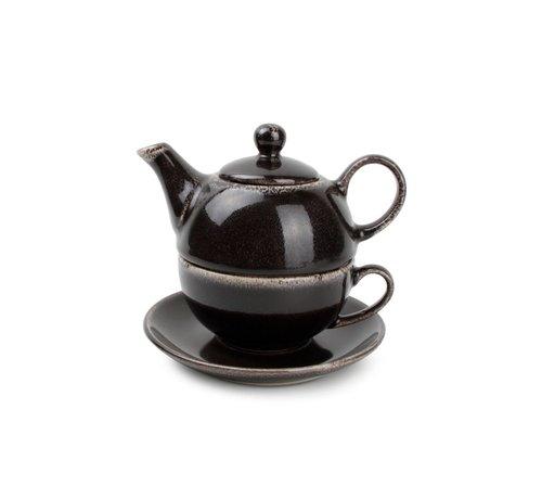 S & P S&P Tea for one set black Artisan