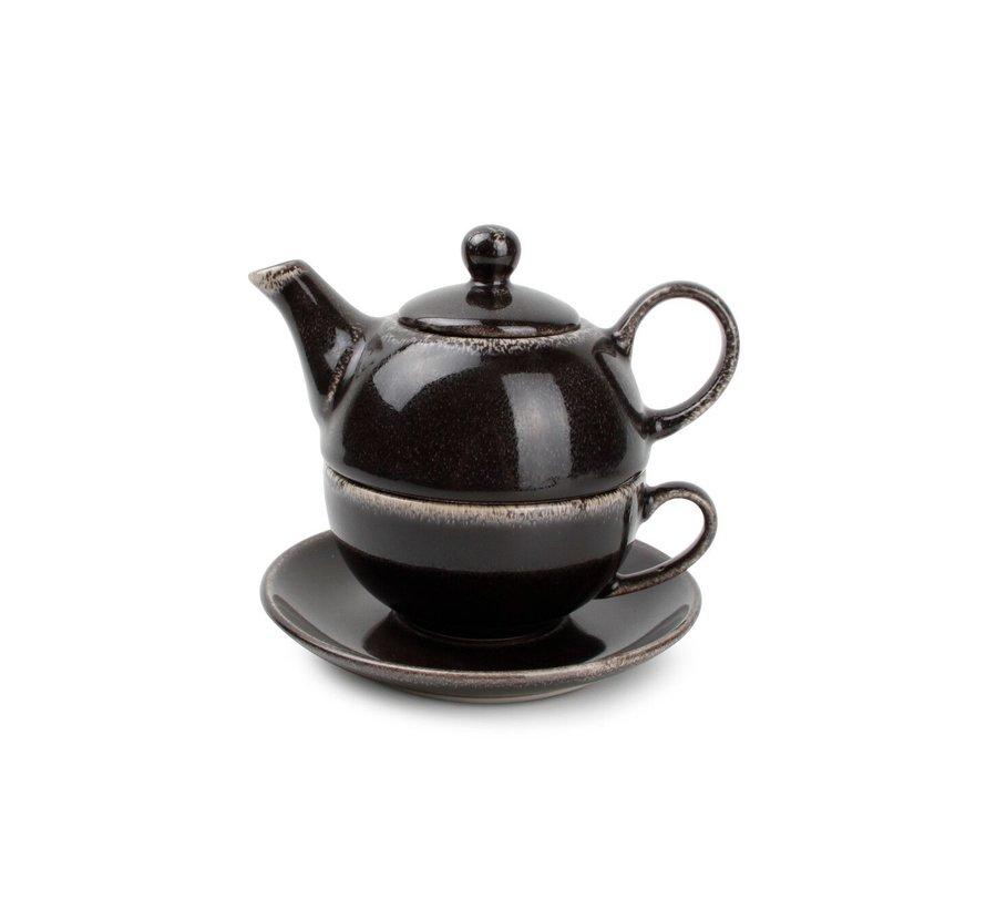 S&P Tea for one set black Artisan