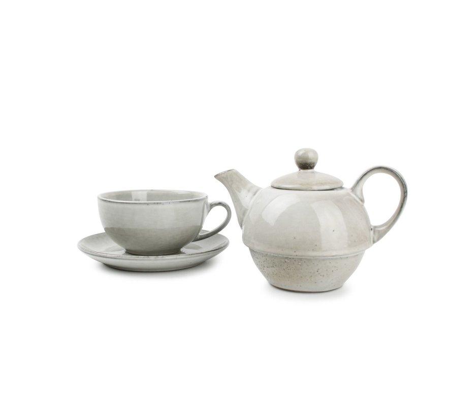 S&P Tea for one set green Artisan
