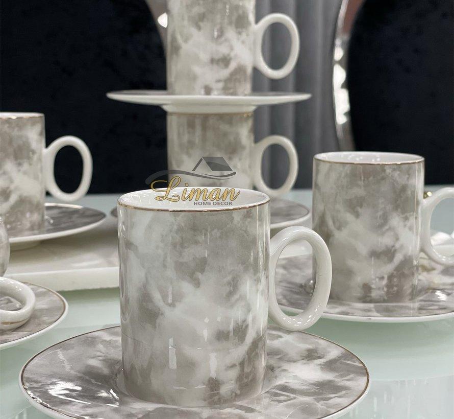 Zellerfeld Porselein Espresso set 12-Delig | 6-Persoons