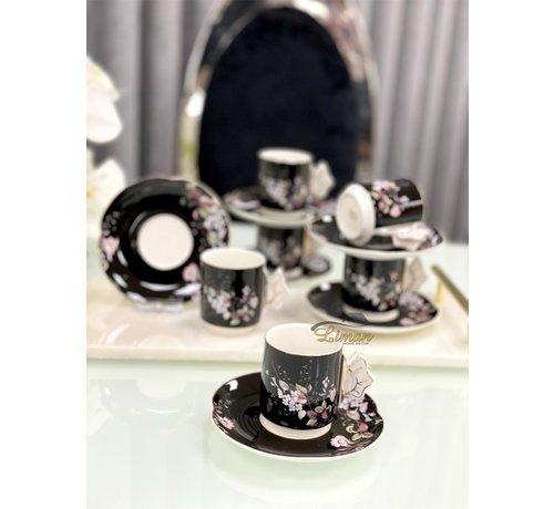 ACR ACR lente Espresso set 12-Delig   6-Persoons Zwart