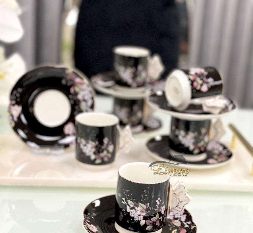 ACR lente Espresso set 12-Delig | 6-Persoons Zwart