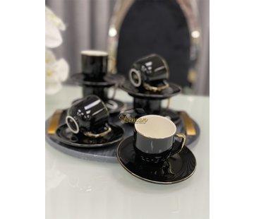 ACR ACR Lisa 12 Delig Espressoset Zwart-Goud
