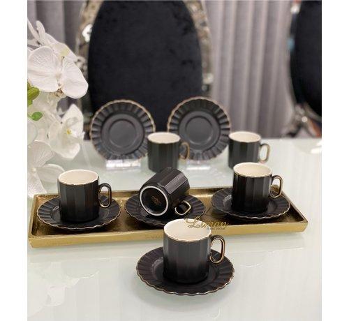 ACR ACR Manolya 12 Delig Espressoset Zwart