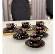 ACR ACR Papatya Espressoset Zwart 12 Delig