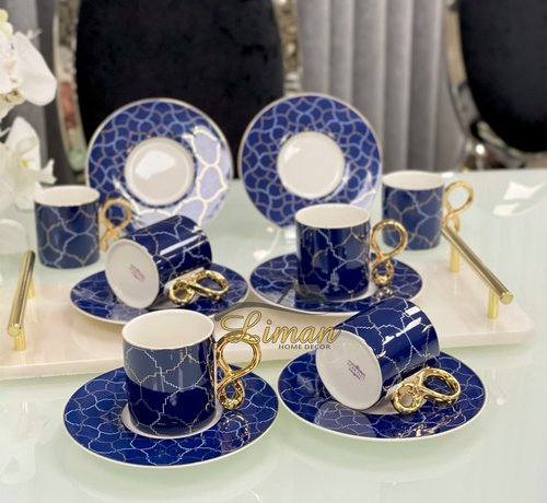 ACR ACR Amoure 12 Delig | 6 Persoon Espressoset Blauw