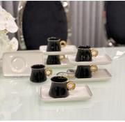 ACR Acr Ring Espresso set 12-Delig   6-Persoons Zwart