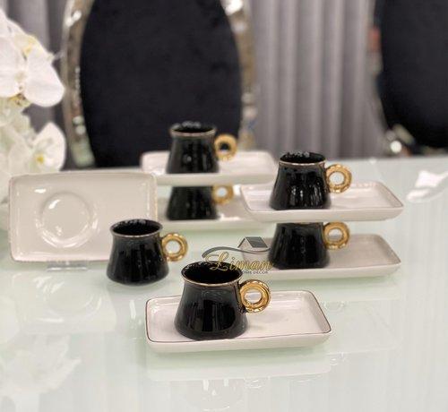 ACR  Acr Ring Espresso set 12-Delig | 6-Persoons Zwart